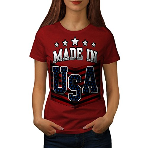 wellcoda Gemacht im USA Frau S T-Shirt