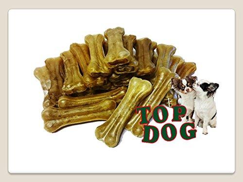 TOP DOG Kauknochen - 25 Knochen - Kausnack 12,5 cm, lose 25 Stück, mind. 55g/Stück