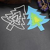 Fustellatrice Fustelle, FNKDOR Metallo Fustelle Acciaio Stencil DIY Scrapbooking Album Foto, Accessori per Big Shot e altre macchina (C)
