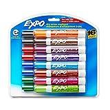 Expo 2. Faible odeur. Marqueurs effaçables à sec, pointe biseautée,/, couleurs assorties (81045) 16-Pack Couleurs assorties
