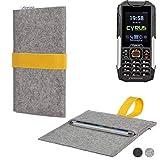 flat.design Handy Hülle Aveiro für Cyrus cm 16 handgefertigte Filz Tasche Case Sleeve fair