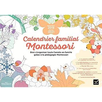 Calendrier familial Montessori septembre 2019 - janvier 2021
