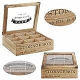 LS Design Holz Aufbewahrungsbox Schmuckkiste Teebox Teekiste Teekasten Shabby Country