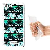 WoowCase Wiko Selfy 4G Hülle, Handyhülle Silikon für [ Wiko Selfy 4G ] Tropische Palmen Handytasche Handy Cover Case Schutzhülle Flexible TPU - Transparent