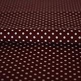 Stoff Meterware Punkte 2 mm Weiß auf Bordeaux Rot