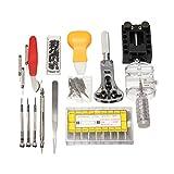 GOZAR 415 Pcs Uhr Reparaturwerkzeug Kit Band Entferner Federstange Mit Tragetasche