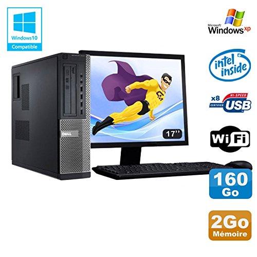 Pack PC DELL Optiplex 3010 DT G640 2.8 GHz 2Go 160GB DVD WIFI Win XP + Bildschirm 17 (Zertifiziert und Generalüberholt)