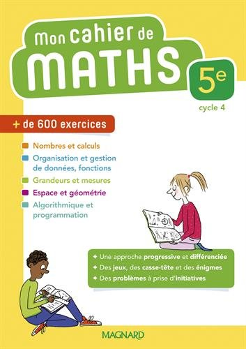 Mathématiques 5e Mon cahier de maths