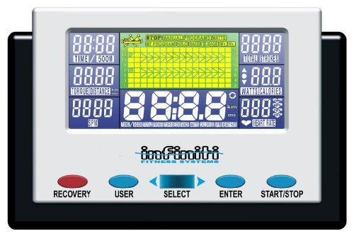 51MxHc8lZ2L - Bodymax Infiniti R90 Rowing Machine - White