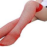 TWIFER Damen Dessous Spitze Netzstrümpfe Oberschenkel Hohe Overknee Strümpfe Hohe Socken (B, Freie Größe)