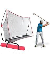 Busyall Golf Filet D'entrainement Portable 10 x 7 x 3ft Filet Golf Practice avec Cadre D'arme et Sac de Transport (600D Oxford Cloth) EU Stock