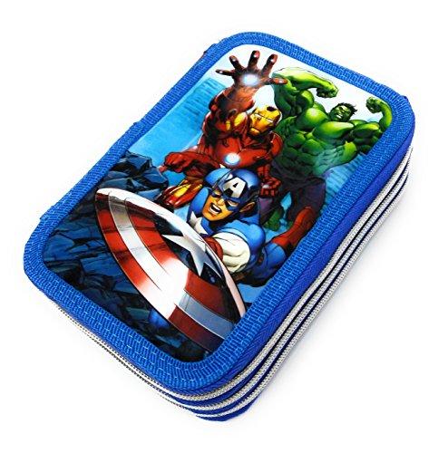 Avengers–Estuche 3cremallera 36pz Giotto