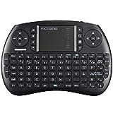 VICTSING Mini Clavier sans Fil 2.4G Multifonctionnel 92 Touches, Pavé Tactile de Sensibilité Elevée PC, HTPC, X-Box, boîte TV Android, Google TV Box, etc