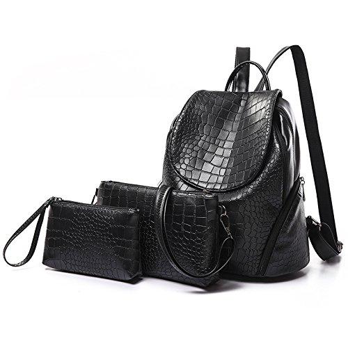 Mefly Sommer Mode Präzise Große Kapazität All-Match Paket Black fish stripes