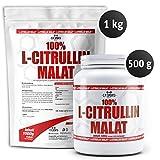 L-CITRULLIN - Malat Pulver, Powder Vegan, Hohe Reinheit, steigert Ausdauer und Leistungsfähigkeit, deutsche Qualität, 500g und 1000g (1000g)
