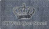 Toland Home Garden mit Ihre Schuhe 45,7x 76,2cm Dekorative Fußmatte QUEEN Krone Fußmatte