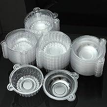 GEZICHTA - Caja Individual de plástico de Polietileno para Magdalenas (100 Unidades), Transparente