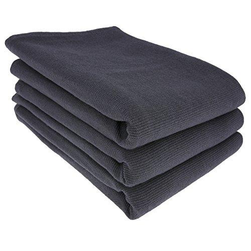 3x Geschirrtuch / Küchentuch / Putztuch / Poliertuch aus 100% Baumwolle in anthrazit