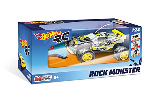 Mondo - 63339 - Hot Wheels Rock Monster R/C - Echelle 1/24 - assortiment aléatoire