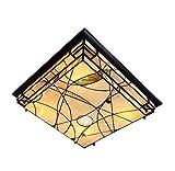 Plafoniera in stile Tiffany LED da 25 pollici Plafoniera in vetro decorato a mano in vetroresina Soggiorno Decorazione camera da letto Plafoniere a sospensione 3 file Dimmer