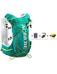AONIJIE 10L ligero resistente al agua mochila de esquí mochila de running Marathon Ciclismo Bolsas Running chaleco eléctrica bolsa de deporte, verde menta