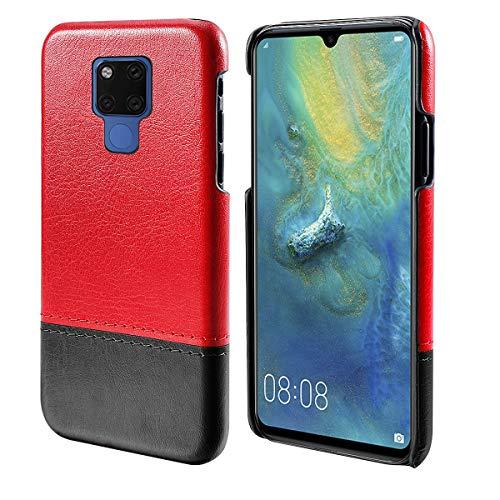 FugouSell Cover per Huawei Mate 20 X (5G), Custodia Ultra Sottile e Leggere, Slim Smart Case con Antiurto Antipolvere Funzione Compatibile con Huawei Mate 20 X (5G) (Rosso Nero)