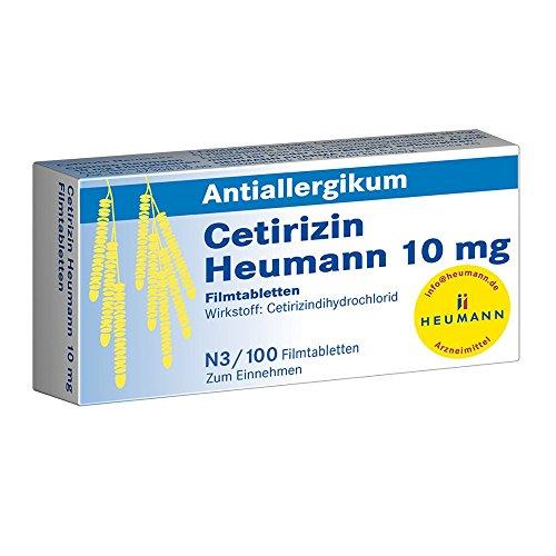 Cetirizin Heumann 10 mg, 100 St. Filmtabletten