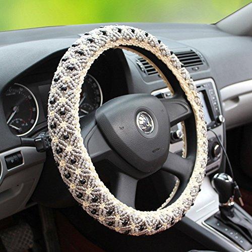 b-y-main-perles-glace-automotive-housse-de-volant-en-soie-avec-38-cm-381-cm-diametre-gris-gris