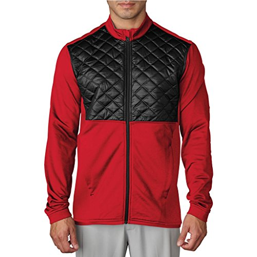 adidas Golf 2017 ClimaheatTM Prime Fill Insulated Quilted Mens Golf Thermal Jacket Ray Red/Black Medium