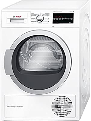 Bosch Serie 6 WTG85238EE Independiente Carga frontal 8kg A++ Color blanco - Secadora (Independiente, Carga frontal, Bomba de calor, A++, Color blanco, B)
