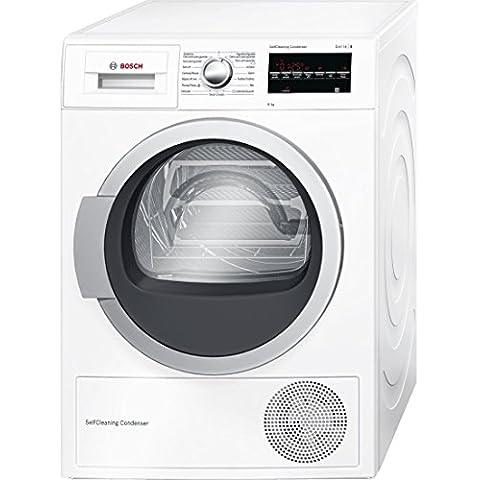 Bosch Serie 6 WTG85238EE Independiente Carga frontal 8kg A++ Color blanco - Secadora (Independiente, Carga frontal, Bomba de calor, A++, Color blanco, B)