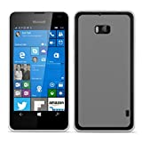 Conie Basic Cover kompatibel mit Nokia Lumia 930, Silikon Rückschale mit Druckknöpfe & Rutschfeste Oberfläche Schutzhülle in Transparent