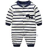 Neugeborene Strampler Baby Spielanzug Jungen Mädchen Schlafanzug Baumwolle Overalls, 0-3 Monate