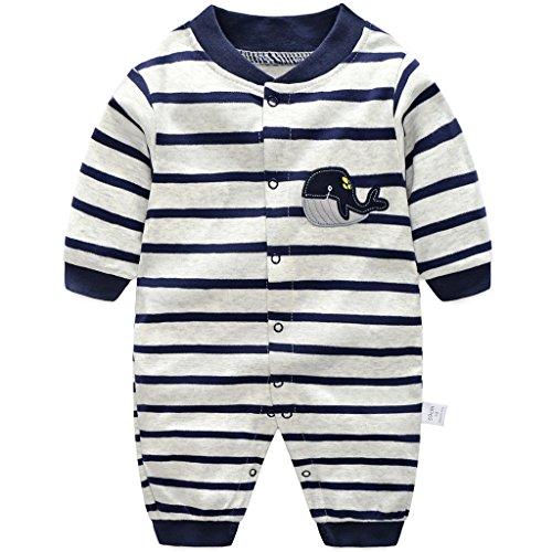 Baby Strampler Spielanzug Jungen Mädchen Schlafanzug Baumwolle Overalls Baby-Nachtwäsche, 6-9 Monate