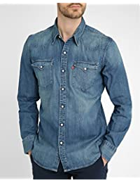 3666e81f533 Levi s Men s Barstow Western Slim Fit Long Sleeve Casual Shirt