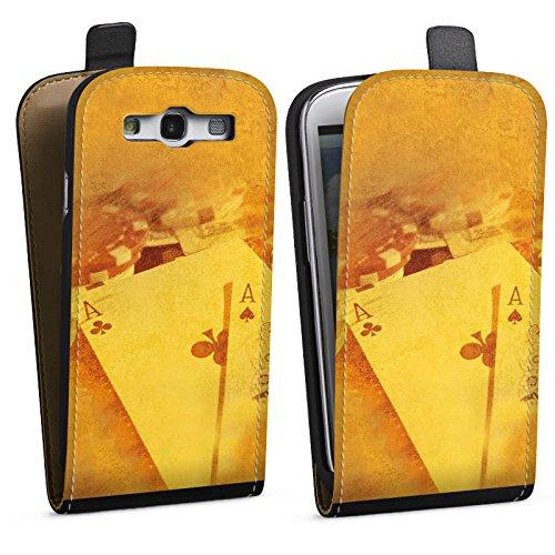 DeinDesign Tasche kompatibel mit Samsung Galaxy S3 Flip Case Hülle Karten Cards Poker -