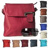 Big Handbag Shop Womens Medium Trendy Messenger Cross Body Shoulder Bag (9729 Beige)