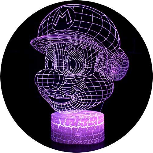 3D Illusion Lampe NHSUNRAY 7 Farben LED Touch Tischleuchte mit Fernbedienung Nachtlicht Für...