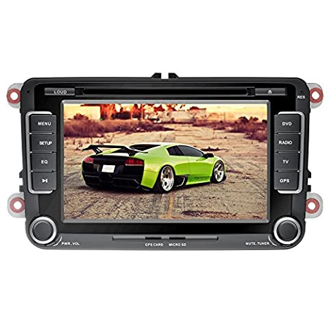 YINUO 7 pouces écran tactile 2DIN Autoradio DVD GPS Navigation avec Bluetooth pour VW Golf 2003-2012/Tiguan 2007-2013/ Jetta 2006-2012/Caddy 2003-2013/New Sharan 2010-2013/Passat 2005-2012/Bora 2011-2012/Polo 2011-2012/EOS 2006-2013/Toledo 2012-2013/Superb 2010-2013/Leon 2004-2012/Fabia 2004-2013/Magotan 2006-2012/Yeti 2009-2013/Scirocco 2008-2013/Lavida 2011-2012/Touran 2003-2013/Altea 2004-2013/Roomster 2003-2010/ Rapid 2012-2013/Sagitr 2005-2013/ Praktik 2007-2011