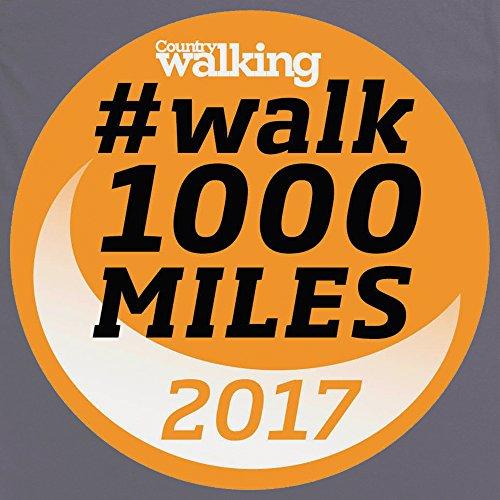 Walk 1000 Miles 2017 Logo T-Shirt, Herren Anthrazit