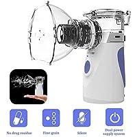 Tragbarer Inhalator Vernebler ,Geräuscharmes Persönlicher Dampf-Inhalator Kit Vernebler Inhalationsgeräte Set mit Mundstücken und Masken für Kinder und Erwachsene, Wirksam Bei Atemwegserkrankungen