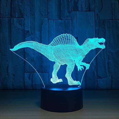 Stereo Light French Day Deal Dinosaur Lampada a Led USB Lampada 7 colori Touch Sensor Camera da letto Luci Atmosfera Decorazione Illuminazione Regali novità