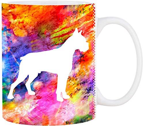 Cadouri Hunde-Tasse BOXER mit Hunderasse┊Kaffeetasse Bürotasse┊tolle Geschenkidee für Hundeliebhaber