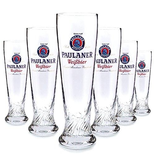 6-x-paulaner-05l-vetro-occhiali-marca-vetro-bellissimo-lago-bicchiere-da-birra