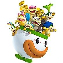 Nintendo Pegatina de pared, diseño de VideoJuego New Super Mario Bros Koopalings, para Decoración, extraíble, Póster de pared de sala de juegos