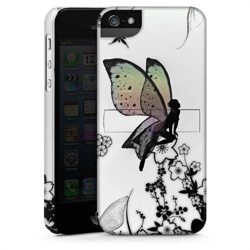 Apple iPhone 5 Housse Outdoor Étui militaire Coque Elfe Fée Papillon CasStandup blanc