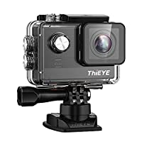 ThiEYE T5e Wifi Sport Camera,Ultra 4K HD 12MP Sony Sensor/Ambarella Chipset Action Video Cam Compatible with External Mic,197FT Waterproof Action Camera with 170° Wide Lens
