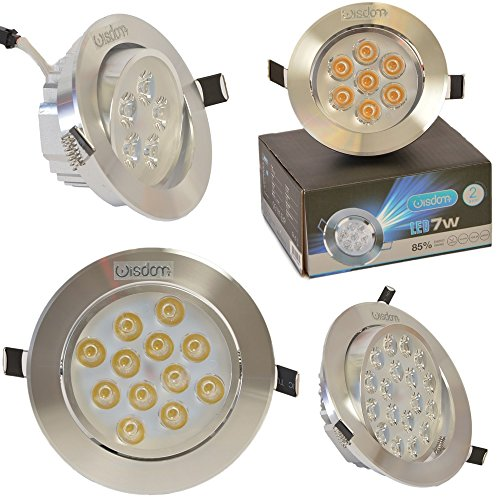 FARETTO LED ORIENTABILE DA INCASSO WISDOM® IN ALLUMINIO SPAZZOLATO DA 1W, 3W, 5W, 7W, 9W, 12W E 18W DISPONIBILE A LUCE BIANCO FREDDO 6500K E BIANCO CALDO 3000K CON LED DRIVER INCLUSO Materiale alluminio con finitura spazzolato unidirezionale di particolare lucentezza, superficie ultra liscia e riflettente con bordo smussato. (3 Watts)