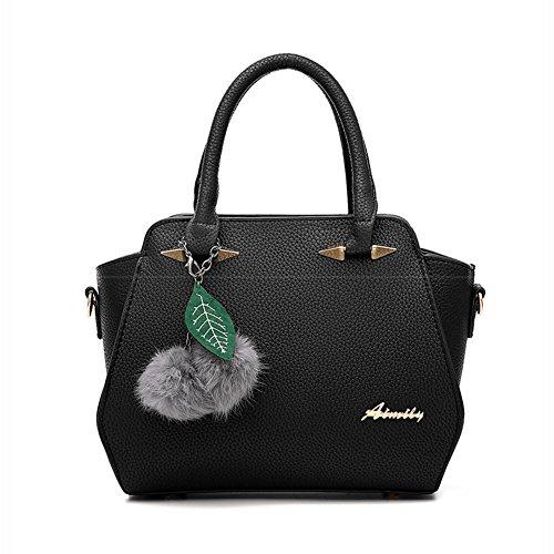 Damen Schultertasche PU Leder Handtaschen Umhängetasche Tote Gummi Pink Gummi Pink