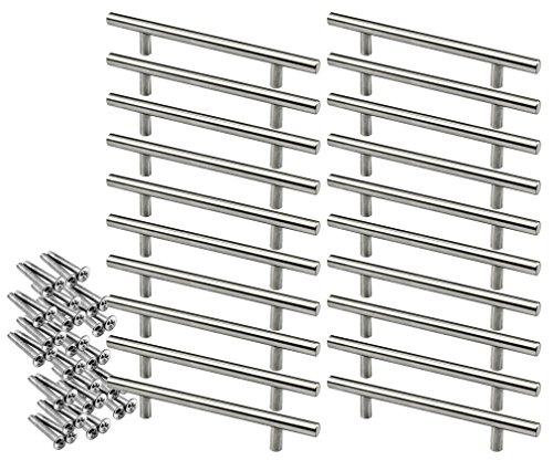 20 x T Bar Cuisine Chambre Porte Cabinet Poignées Unités kit 128mm